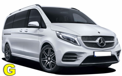 Iscar Rent a Car - GROUP G - Mercedes Vito or similar